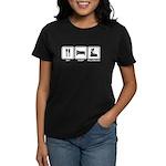EAT SLEEP ROLLERBLADE Women's Dark T-Shirt