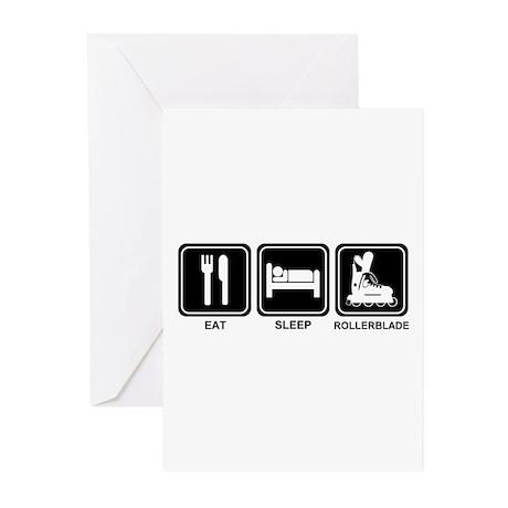 EAT SLEEP ROLLERBLADE Greeting Cards (Pk of 10)