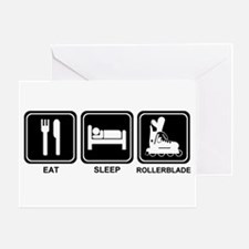 EAT SLEEP ROLLERBLADE Greeting Card