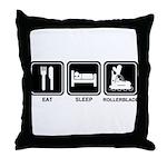 EAT SLEEP ROLLERBLADE Throw Pillow
