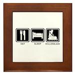 EAT SLEEP ROLLERBLADE Framed Tile