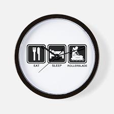 EAT SLEEP ROLLERBLADE Wall Clock