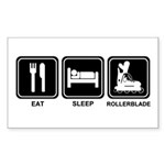 EAT SLEEP ROLLERBLADE Rectangle Sticker