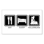 EAT SLEEP ROLLERBLADE Rectangle Sticker 50 pk)