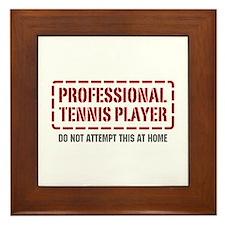 Professional Tennis Player Framed Tile