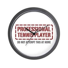 Professional Tennis Player Wall Clock