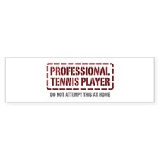 Professional Tennis Player Bumper Bumper Sticker