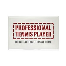 Professional Tennis Player Rectangle Magnet