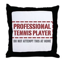 Professional Tennis Player Throw Pillow
