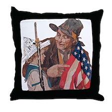 Veterans Patriotic Throw Pillow