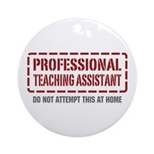 Professional Teaching Assistant Ornament (Round)