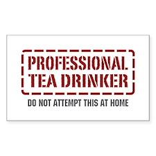 Professional Tea Drinker Rectangle Decal