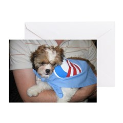 Dogs for Obama Blank Greeting Cards