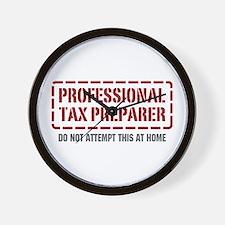 Professional Tax Preparer Wall Clock