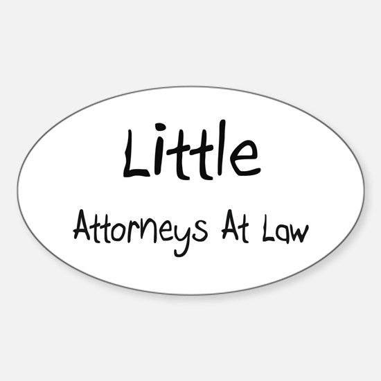 Little Attorneys At Law Oval Decal