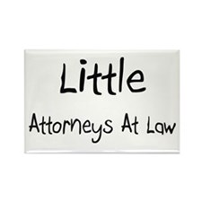 Little Attorneys At Law Rectangle Magnet