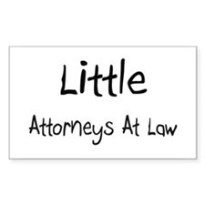 Little Attorneys At Law Rectangle Decal