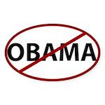 Anti Obama Oval Sticker