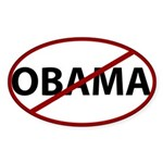 Anti Obama Oval Sticker