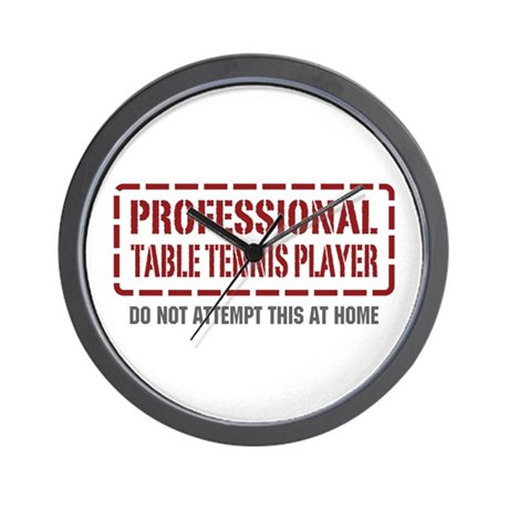 Professional Table Tennis Player Wall Clock