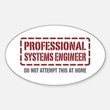 Professional Systems Engineer Oval Decal