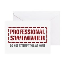 Professional Swimmer Greeting Card