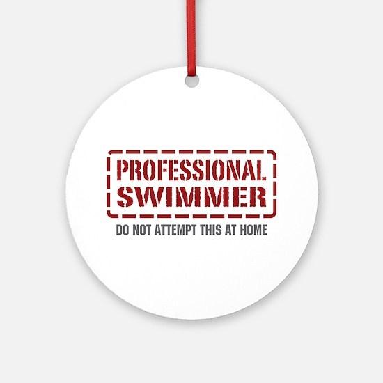 Professional Swimmer Ornament (Round)