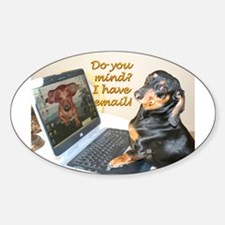 Lilys Computer Oval Bumper Stickers