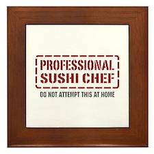 Professional Sushi Chef Framed Tile