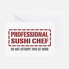 Professional Sushi Chef Greeting Card