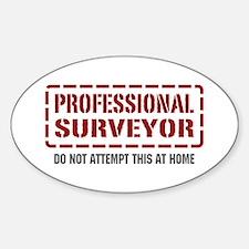 Professional Surveyor Oval Decal