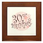 30TH BIRTHDAY Framed Tile