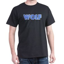 Retro Wolf (Blue) T-Shirt
