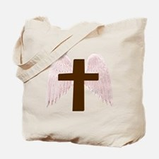 Winged Cross Tote Bag