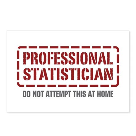 Professional Statistician Postcards (Package of 8)