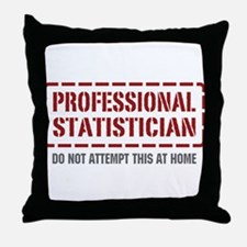 Professional Statistician Throw Pillow