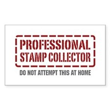 Professional Stamp Collector Rectangle Decal