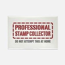 Professional Stamp Collector Rectangle Magnet