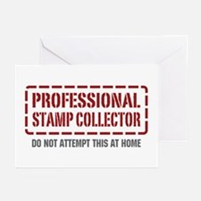 Professional Stamp Collector Greeting Cards (Pk of