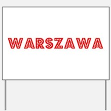 Retro Warszawa (Red) Yard Sign