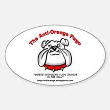 The Anti-Orange Page Oval Decal