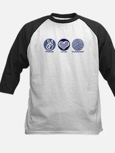Peace Love Volleyball Kids Baseball Jersey