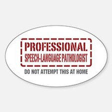 Professional Speech-Language Pathologist Decal