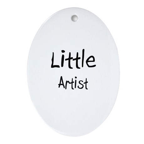 Little Artist Oval Ornament