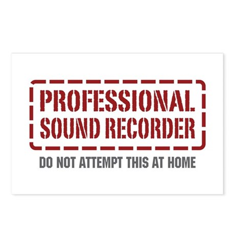 Professional Sound Recorder Postcards (Package of