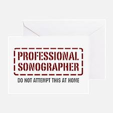 Professional Sonographer Greeting Card