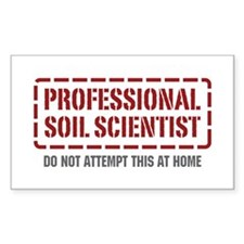 Professional Soil Scientist Rectangle Decal