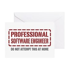 Professional Software Engineer Greeting Card