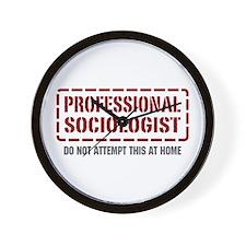 Professional Sociologist Wall Clock