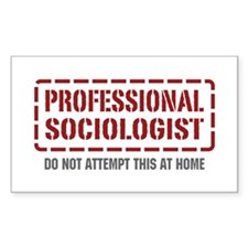 Professional Sociologist Rectangle Decal